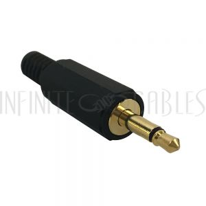 CN-S3.5MM-6.0BK 3.5mm Mono Male Solder Connector - Black