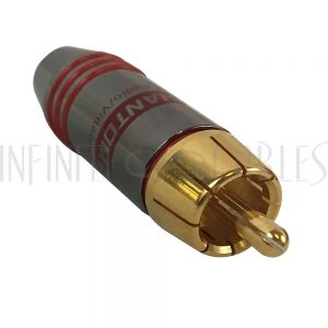 CN-SRCAM-5.5RD Premium RCA Male Solder Connector (5.5mm ID) - Red - Infinite Cables