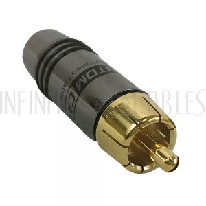 CN-SRCAM-7.5BK RCA Male Solder Connector (7.5mm OD) - Black