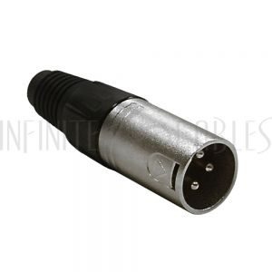 CN-XLRM XLR Male Solder Connector Nickel, Gold Plated