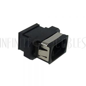 FO-AD1000 MPO Fiber Coupler for Straight Wiring (Key Up to Key Down) Panelmount, Black - Infinite Cables