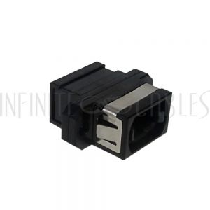 FO-AD1001 MPO Fiber Coupler for Cross Wiring (Key Up to Key Up) Panelmount, Black - Infinite Cables