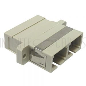 FO-AD104-PM SC/SC Fiber Coupler F/F Multimode OM1/OM2 Duplex Ceramic Panel Mount - Beige