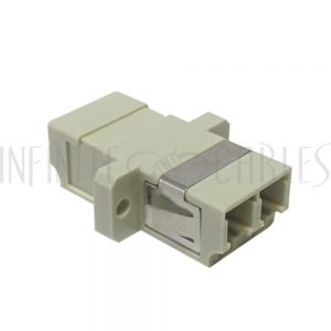 FO-AD108-PM LC/LC Fiber Coupler F/F Multimode OM1/OM2 Duplex Ceramic Panel Mount, Beige - Infinite Cables
