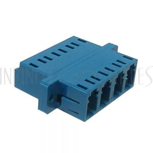 FO-AD208Q-PM LC/LC Fiber Coupler F/F Singlemode Quad Ceramic Panel Mount, Blue