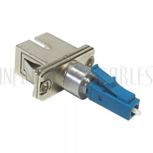 FO-AD609-1 LC Male / SC Female Fiber Hybrid Coupler Singlemode Simplex Ceramic, Blue - Infinite Cables