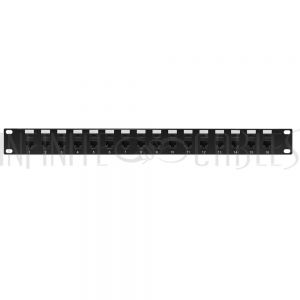 "PP-16C6-PT 16-Port CAT6 Patch Panel, 19"" Rackmount 1U - Pass-Through"