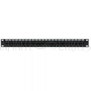 "PP-24C5-PT 24-Port CAT5e Patch Panel, 19"" Rackmount 1U - Pass-Through - Infinite Cables"