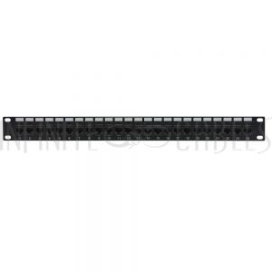 "PP-24C6-PT 24-Port CAT6 Patch Panel, 19"" Rackmount 1U - Pass-Through"