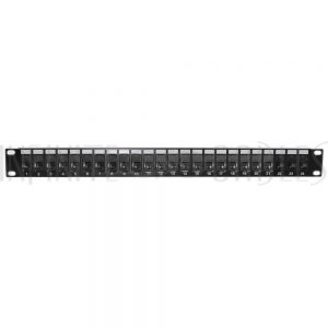 "PP-24C6A-JK 24-Port CAT6A Patch Panel, 19"" Rackmount 1U - 110 Punch-Down"