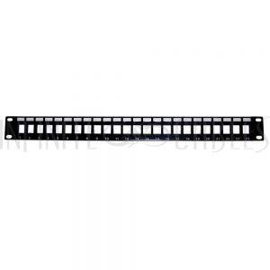 "PP-24KS-1U 24-port Keystone Patch Panel, 19"" Rackmount 1U - Unloaded - Infinite Cables"