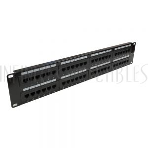 "PP-48C6-110 48-Port CAT6 Patch Panel, 19"" Rackmount 2U -  110 Punch-Down - Infinite Cables"