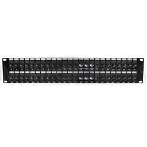 "PP-48C6A-JK 48-Port CAT6A Patch Panel, 19"" Rackmount 2U - 110 Punch-Down - Infinite Cables"