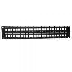 PP-48KS-2U 48-port Keystone Patch Panel, 19 Rackmount 2U - Unloaded - Infinite Cables