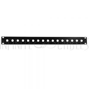 PP-BNC16-UL 16-port BNC patch panel, 19 inch rackmount 1U - Unloaded