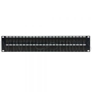 PP-HDMI-48 48-Port HDMI patch panel, 19 inch rackmount 2U - Infinite Cables