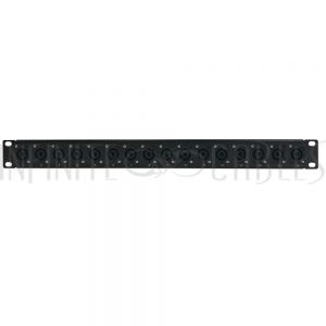 PP-SPK-16 16-Port speakON patch panel, 19 inch rackmount 1U