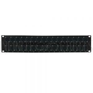 PP-SPK-32 32-Port speakON patch panel, 19 inch rackmount 2U - Infinite Cables