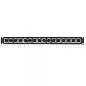 PP-XLR-16F 16-Port XLR Female Patch Panel, 19 inch rackmount 1U