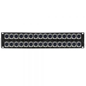 PP-XLR-32F 32-Port XLR Female Patch Panel, 19 inch rackmount 2U