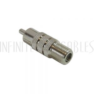 AD-R0F1 RCA Male to F-Type Female Adapter