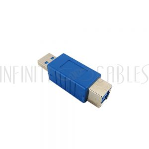 AD-USB-31 USB 3.0 A Male to B Female Adapter - Blue - Infinite Cables