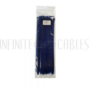 CT-212-100BL 100pk 12 inch cable tie (40lb) - UL94 V-2 nylon 66 - Blue