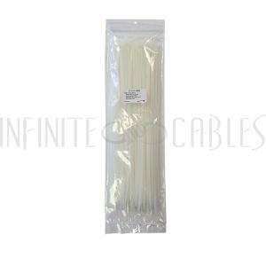 CT-212-100CL 100pk 12 inch cable tie (40lb) - UL94 V-2 nylon 66 - Natural