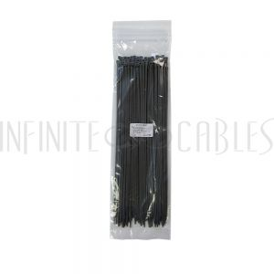 CT-212-100GY 100pk 12 inch cable tie (40lb) - UL94 V-2 nylon 66 - Grey - Infinite Cables