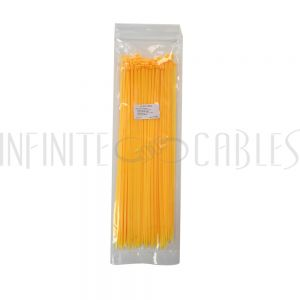 CT-212-100YL 100pk 12 inch cable tie (40lb) - UL94 V-2 nylon 66 - Yellow