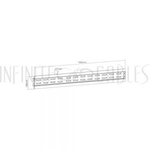 "MT-1502-BK Video Wall Connecting Mount, 30"" - # LVW02-WPS - Infinite Cables"