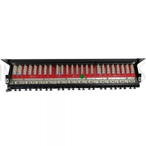 "PP-24C6A-110S 24-Port CAT6A Shielded Patch Panel, 19"" Rackmount"
