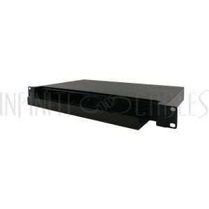 "PP-F1000-1UBK 1U 19"" Rackmount FDU with Slide Out  (holds 2 panels) - Black"
