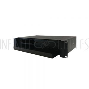 "PP-F1000-2UBK 2U 19"" Rackmount FDU with Slide Out  (holds 4 panels) - Black - Infinite Cables"