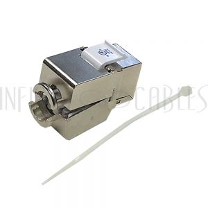 JK-8C6P-SS RJ45 Jack, 110 Style Punch-Down Cat6 Shielded