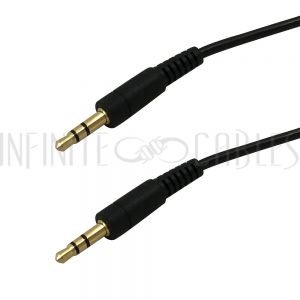3.5mm Male to 3.5mm Male Stereo Cables - Black