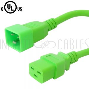 C19 to C20 Power Cords - Green - Infinite Cables