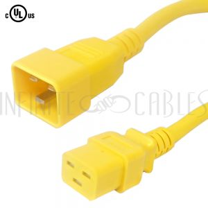 C19 to C20 Power Cords - Yellow - Infinite Cables