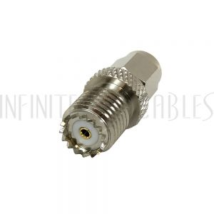 AD-1060 SMA Male to Mini-UHF Female Adapter - Infinite Cables