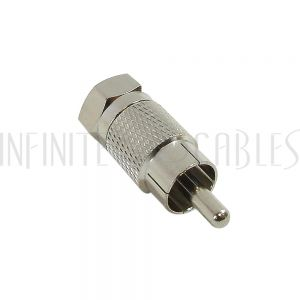 AD-R0F0 RCA Male to F-Type Male Adapter - Infinite Cables