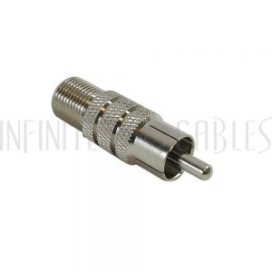 AD-R0F1 RCA Male to F-Type Female Adapter - Infinite Cables