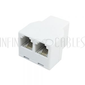 CN-RJ11-TEE3 RJ11 Tee Adapter (3x RJ11 Female) - White - Infinite Cables