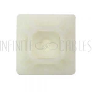 "CT-M075-CL Adhesive cable tie mount 0.75""x 0.75"" - Natural - Pack of 100 - Infinite Cables"