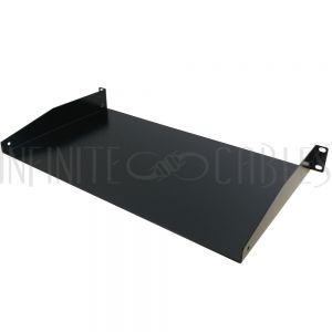 RM-300-1U 19 inch Front Mount Solid Shelf (10 inch Depth) - 1U - Infinite Cables