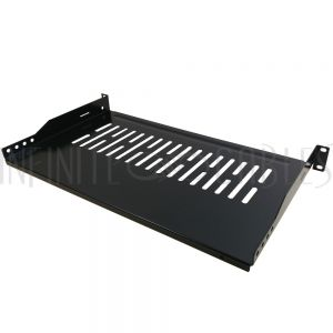RM-300V-1U 19 inch Front Mount Vented Shelf (10 inch Depth) - 1U