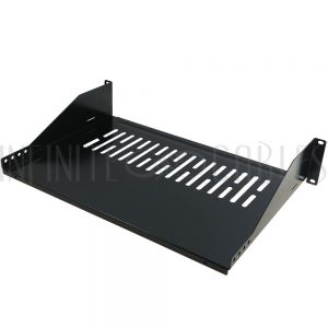 RM-300V-2U 19 Inch Front Mount Vented Shelf (12 Inch Depth) - 2U - Infinite Cables