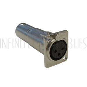 WP-IN-XLRFM XLR Female D-Cut to XLR Male - Nickel