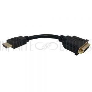 AD-HDMI-DVI 6 inch DVI Female to HDMI Male Adapter - Infinite Cables