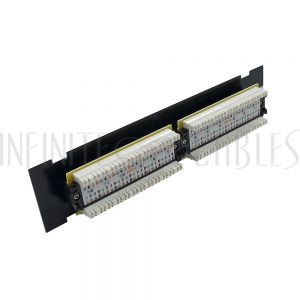 PP-12C6-SM 12-Port CAT6 Patch Panel, Self Mount Patch Panel - 110 Punch-Down