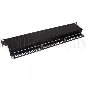 """PP-24C6-110S 24-Port CAT6 Shielded Patch Panel, 19"""" Rackmount 1U - 110 Punch-Down - Infinite Cables"""